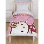 "HELLO KITTY - Couverture - Plaid - 120 x 150 cm - "" Folk """