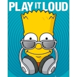 "SIMPSONS - POSTER - 40 X 50 CM - "" Play It Loud """