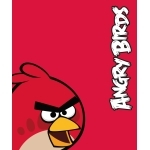 "ANGRY BIRDS- Couverture polaire - plaid -125 x 150 cm - "" Rouge """