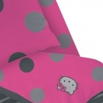 "Hello Kitty  - DRAP HOUSSE "" Rosa "" 140 x 190 cm"