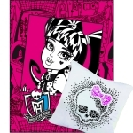 MONSTER HIGH - Pack Cadeau -Plaid + Coussin Réversible