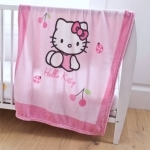 HELLO KITTY- Couverture enfant - Plaid Coccinelle 100 x 135 cm