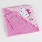 Hello Kitty - CAPE DE BAIN + GAND DE TOILETTE  76 x 76 cm