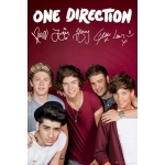 "ONE DIRECTION - Poster - 61 x 91 cm - ""Maroon"""