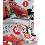 DISNEY CARS 2 - Drap Housse 90 x 190 cm - Red Team - Formula Racer