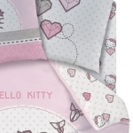 "HELLO KITTY - Drap Housse - 90 x 190 cm - ""Kite"""