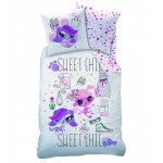 LPS - Housse de Couette Little Lest Pet Shop - Sweet Chic - 140 x 200 cm