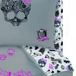 "MONSTER HIGH - Drap housse 90 x 190 cm - assorti à la housse de couette ""Rose"""