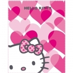 "HELLO KITTY Couverture câline - Plaid polaire - 110 x 140 cm - ""Mimi Love"""