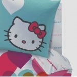 "Hello Kitty  - DRAP HOUSSE "" Mimi Love"" 140 x 190 cm"