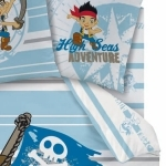 "JAKE LE PIRATE  - Drap Housse 90 x 190 cm assorti à la Housse de Couette ""Adventure"""