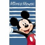 "MICKEY - Drap de Bain/plage - Serviette - 70 x 120 cm - ""Happy"""