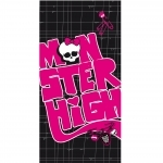 MONSTER HIGH - Drap de Bain/Plage - Serviette - 75 x 150 cm - Black