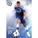 "FOOTBALL - Poster Chelsea   - 61 x 91cm -  "" Hazard 13/14 """
