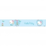 HELLO KITTY - Frise Murale - Bleue