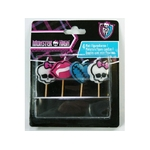 MONSTER HIGH - 4 Bougies Mini Figurines