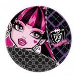 MONSTER HIGH - 8 Assiettes en Carton - 23 cm
