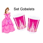 DISNEY PRINCESSE - 10 Gobelets en Plastique - 200ml