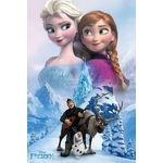 "FROZEN - Poster Reine des Neiges - 61 x 91cm - "" Anna And Elsa """