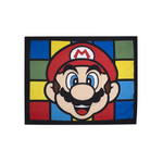 "SUPER MARIO - Plaid polaire - Couverture  - 120 x 150 cm - "" Retro """