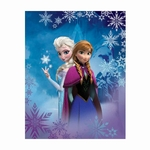 FROZEN -  Reine des neiges - Plaid - Couverture caline - 110 x 140 cm - Anna & Elsa