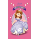 "DISNEY PRINCESSE SOFIA - Serviette - Drap de bain/plage - 70 X 120 cm - "" The First"" ( sur ceintre )"