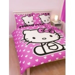 HOUSSE DE COUETTE Hello Kitty Hearts 200 x 200 cm
