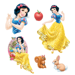 DISNEY PRINCESSE - 2 planches de 6 stickers (30 x 40 cm)