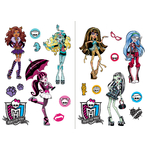 MONSTER HIGH - 2 planches (45 x 65 cm) - 20 Stickers au total