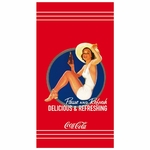 "COCA COLA- Serviette - Drap de bain/plage 85 x 160 cm - ""Pin Up"""