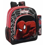 SPIDERMAN - Sac à dos - Grand Cartable - 38 cm de hauteur + Trousse