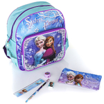 REINE DES NEIGES -Kit for School (3Pcs) - Cartable/Sac à dos 30 cm + Trousse + Set écriture - Frozen