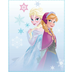 REINE DES NEIGES - Plaid - Couverture caline - 110 x 140 cm - Elsa et Anna - Frozen Winter