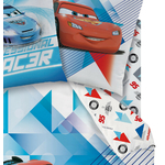 DISNEY CARS 2 - Drap Housse 90 x 190 cm - Ice Racer - Ready to Go