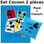 MICKEY - Set Cocoon (2 Pcs) - Plaid + Coussin Photomaton
