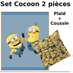 MINIONS - Set Cocoon (2 Pcs) - Plaid + Coussin