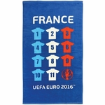 COUPE EUROPE FOOTBALL FRANCE - Serviette - Serviette - Drap de bain/plage 70 x 120 cm - Equipe France