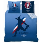 COUPE EUROPE FOOTBALL FRANCE - Parure de lit - Housse de Couette - 240 x 220 cm - Player