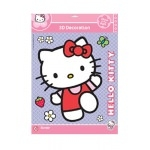 "Stickers Hello Kitty ""7 autocollants 3D"""