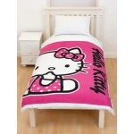 HELLO KITTY Couverture enfant - Plaid Hearts 120 x 150 cm