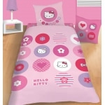 "HELLO KITTY - Parure de lit  "" Pin's """