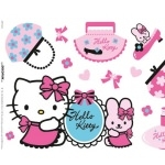 "STICKERS Hello Kitty Muraux ""Fashion"""