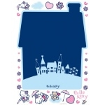 "MAXI STICKERS MURAL Ardoise Hello kitty + 30 Stickers ""Angel"""