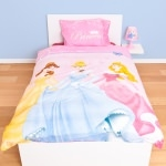 "DISNEY PRINCESSE - Paure de lit - Housse de couette - 135 x 200 cm - Reversible - "" Royal """