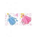 DISNEY PRINCESSES - Stickers muraux (les princesses mesurent 30cm de hauteur)