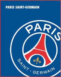 PSG - Plaid - couverture - 110 x 140 cm - Logo Paris saint Germain