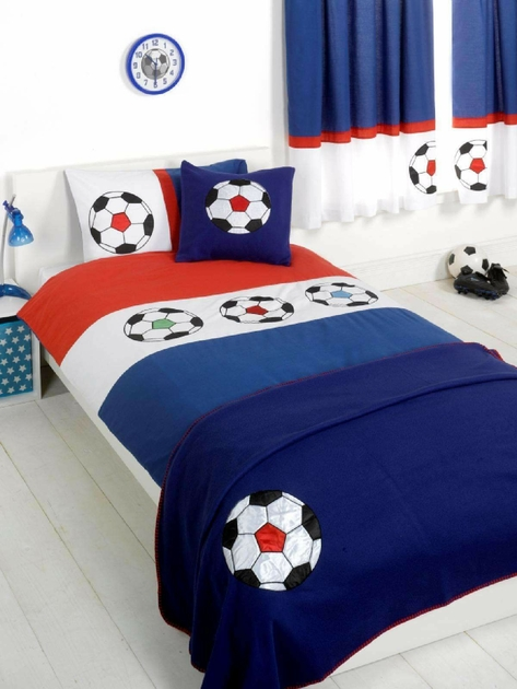 housse de couette football 140x 200cm parure de lit ballon decokids. Black Bedroom Furniture Sets. Home Design Ideas