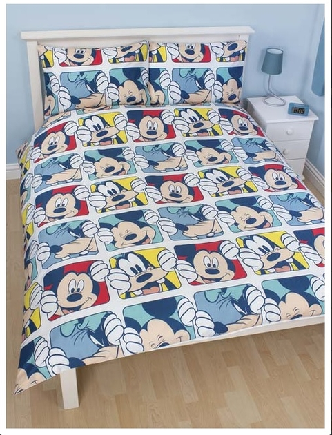 mickey parure de lit housse de couette 200cm x 200cm play mickey decokids tous. Black Bedroom Furniture Sets. Home Design Ideas