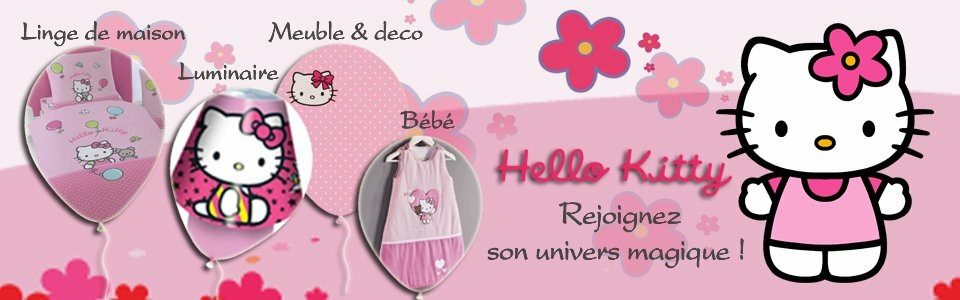 Lustre hello kitty chambre decokids u dcoration chambre for Chambre a coucher hello kitty
