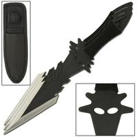3 Couteaux de lancer 19cm full tang - Devil couteau